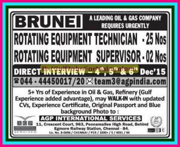 Gulf Jobs for Malayalees: brunei