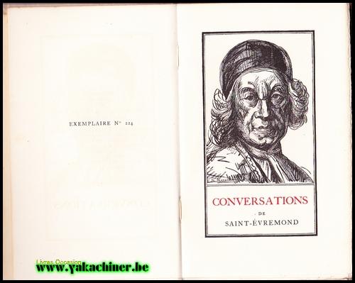 Saint-Evremond, conversation et autres écrits philosophiques, 1926