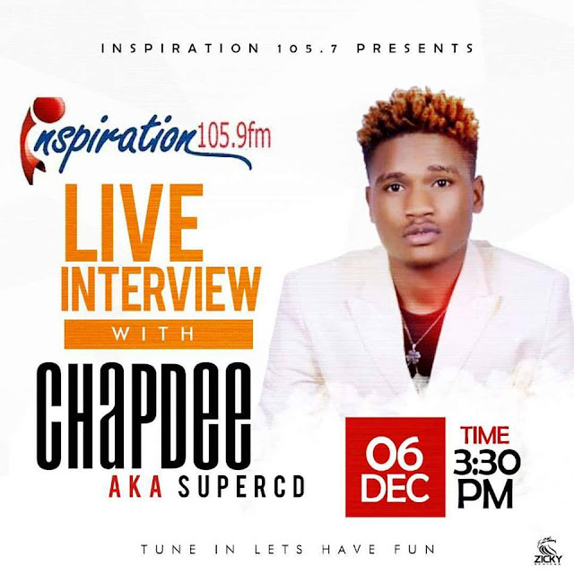 LASS B RECORDS ARTIST CHAPDEE, WILL BE LIVE ON INSPIRATION 104.9 FM FOR AN INTERVIEW WITH THE HOST: KEKE