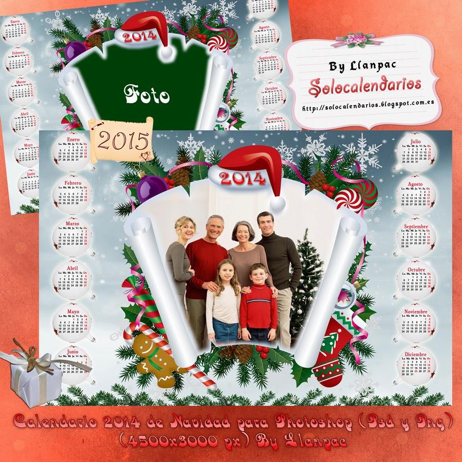 calendarios para photoshop calendario de navidad para el