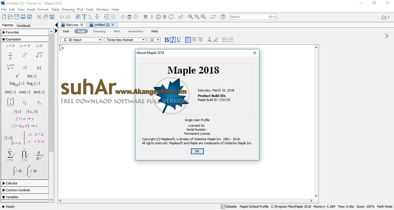 Free Download Maplesoft Maple 2018 Final Full Version, Maplesoft Maple 2018 License Key, Maplesoft Maple 2018 Registration Code, Maplesoft Maple Final Latest Version