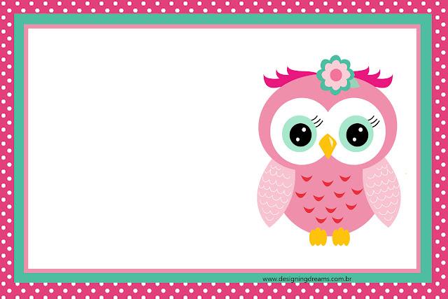 15 a os con buhita rosa invitaciones y etiquetas para for Paginas para hacer planos gratis