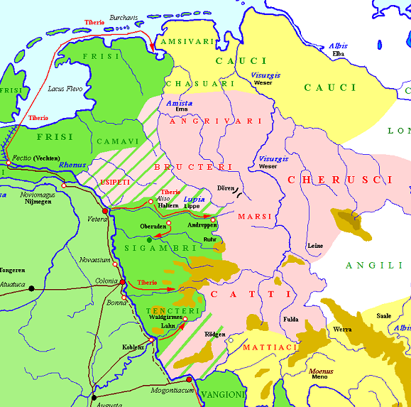 Jjs wargames haltern am see aliso holland 2017 this map illustrating the tribal alliances post varus defeat in 9ad in the teutoburg forest shows the locations of the fortresses visited on our trips to sciox Image collections