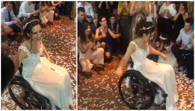 Ελληνίδα νύφη σε αναπηρικό αμαξίδιο χόρεψε το ωραιότερο ζεϊμπέκικο