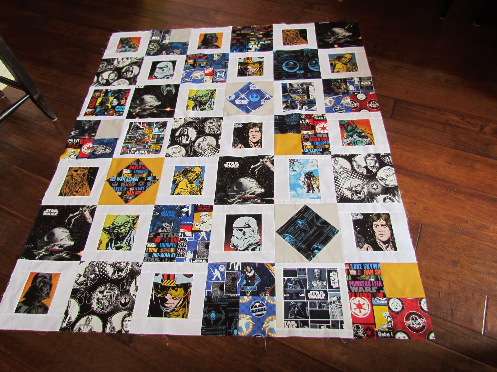 Kayakquilting Another Star Wars Quilt Top