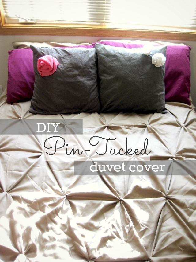diy pin-tucked duvet cover
