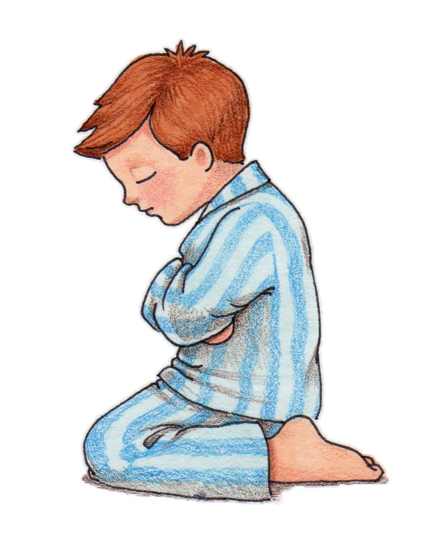 children praying clipart - photo #18