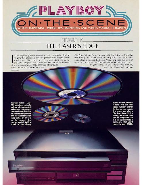 Anuncios en Playboy sobre teconología - años 80