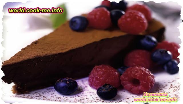 Запеченный шоколадный чизкейк