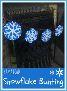 How to make Hama bead snowflake bunting for Christmas