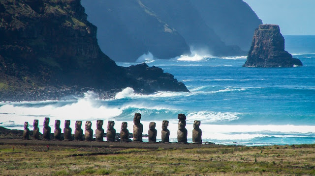 Easter Island inhabitants collected freshwater from the ocean's edge in order to survive