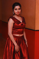 Tamil Actress Anisha Xavier Pos in Red Dress at Pichuva Kaththi Tamil Movie Audio Launch  0007.JPG