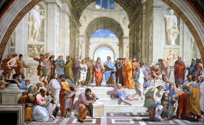 Η Ακαδημία του Πλάτωνα όπως την ζωγράφισε  ο αναγεννησιακός ζωγράφος Ραφαήλ Σάντσιο (1483-1520)