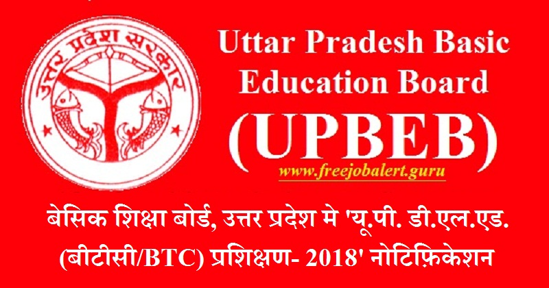 UPBEB Recruitment 2018