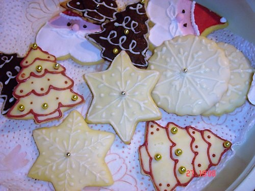 Segnaposto Natalizi Alimentari.Vaniglia E Cioccolato I Natali Passati Biscotti Decorati Natalizi