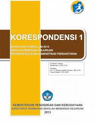Download Buku Pelajaran Korespondensi Semester 1 Kurikulum 2013 Untuk Kelas 10 SMK PDF