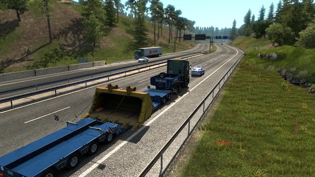 ets 2 special transport escort police screenshots 2