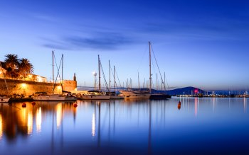 Wallpaper: Travel. Italy. Sardinia. Alghero Harbour