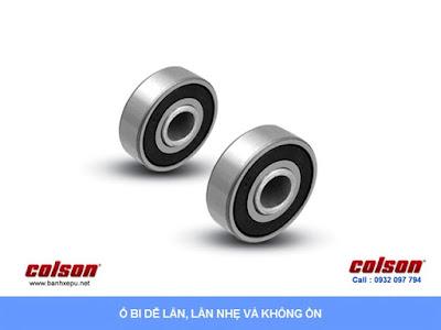 Bánh xe công nghiệp PU chống rung chịu tải (350~400kg) sử dụng ổ bi www.banhxepu.net