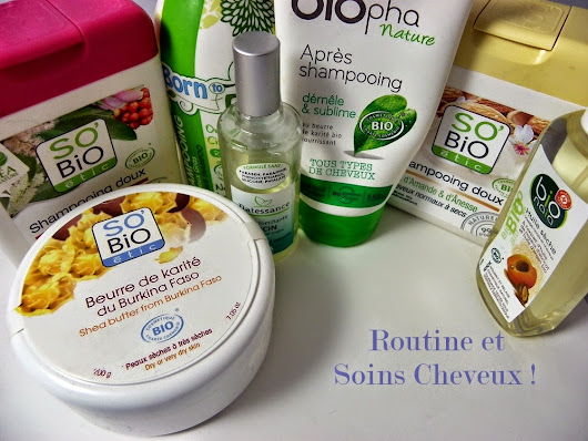 Ma routine capillaire sans silicones !