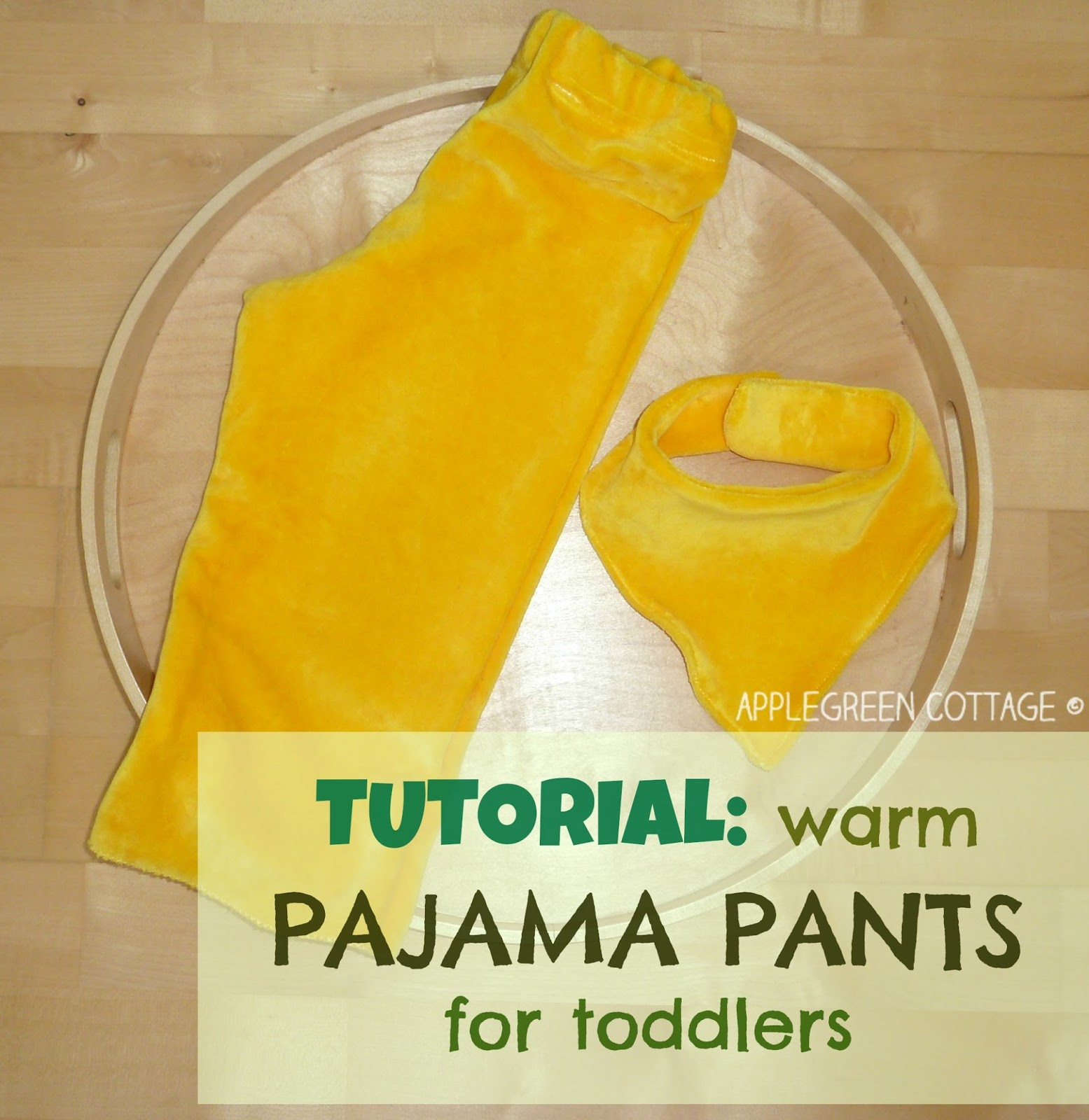 toddler pajama pants tutorial