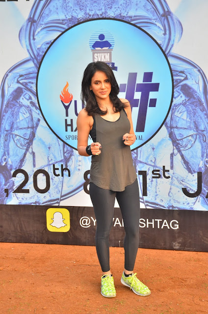 Actress Shweta Khanduri at Yoga Gastric Festival