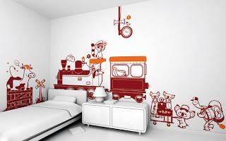 Decoración con vynil para habitaciones de niños.