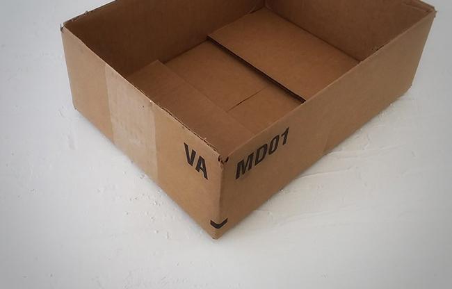 Boîte de carton originale