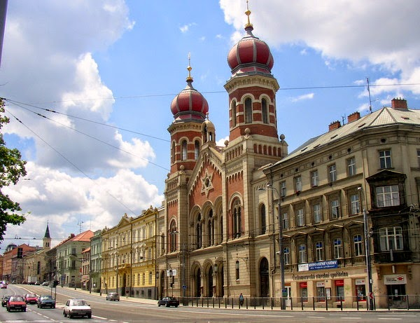 Exterior de La Gran Sinagoga (Pilsen, República Checa)
