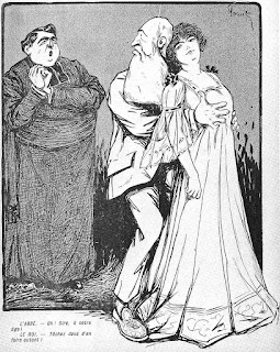 Political cartoon, Leopold´s love affair with Caroline Lacroix