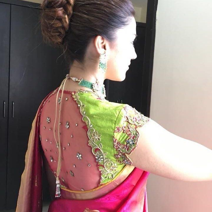 91c4a9c8415d24 Net blouse designs and silk sarees is a fool proof combination and you can  seldom go wrong with them. These gorgeous blouse designs featuring a  transparent ...