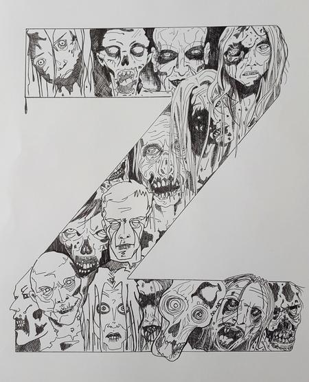 Whoopidooings: Carmen Wing - Zombie Typography Illustration
