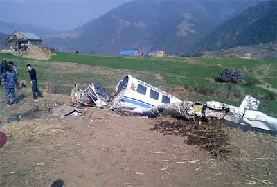 plane crash in kalikot nepal 2 pilots dead