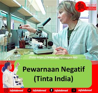 Pewarnaan Negatif (Tinta India) pada bakteri