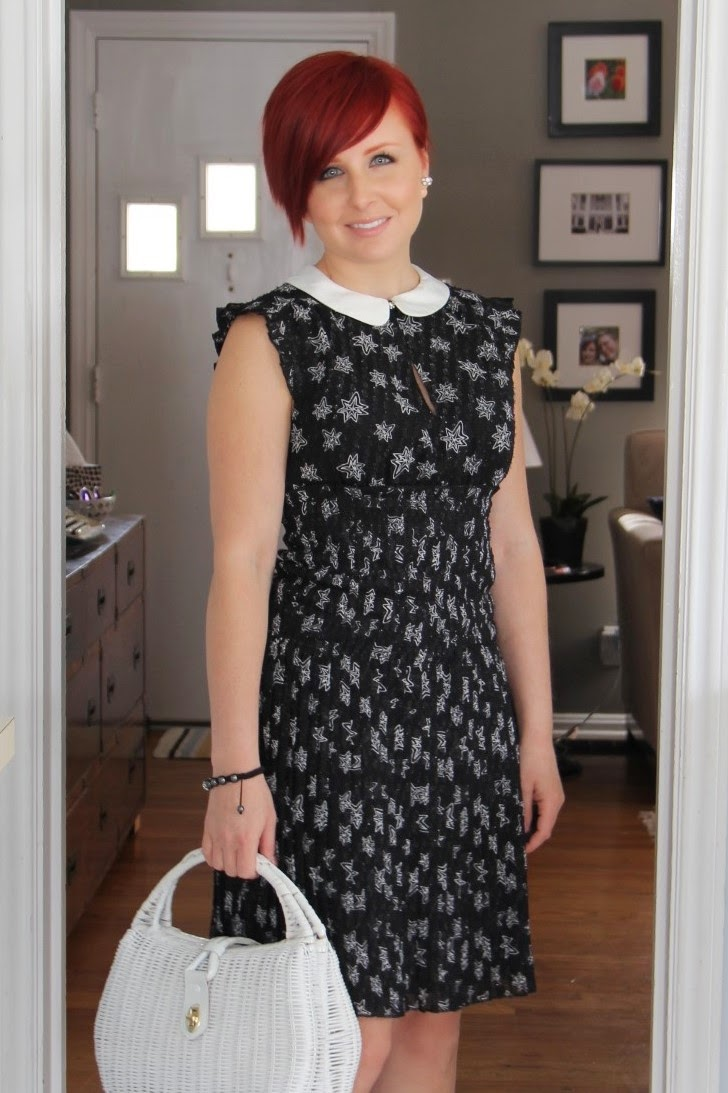 Thrift And Shout Cute Outfit Of The Day Star Dress For