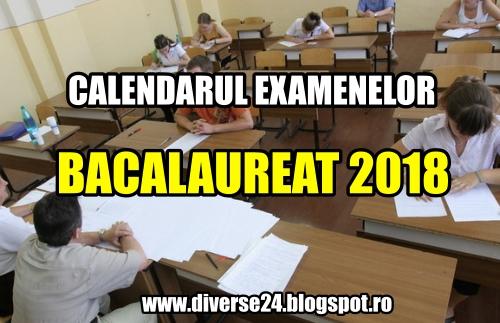 Datele examenului național de Bacalaureat 2018