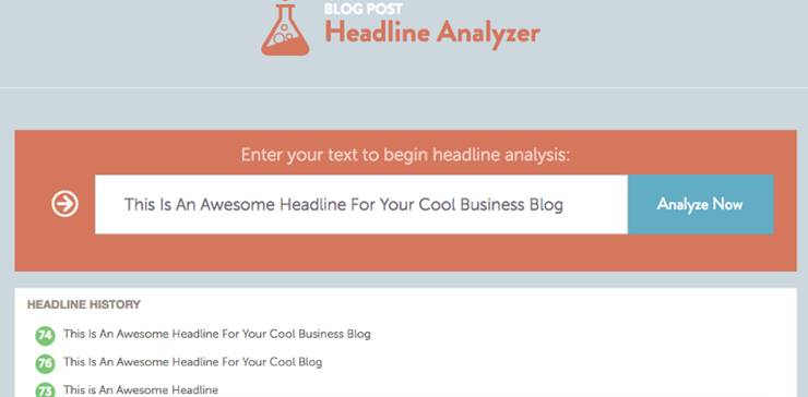 Blog post headline genretor
