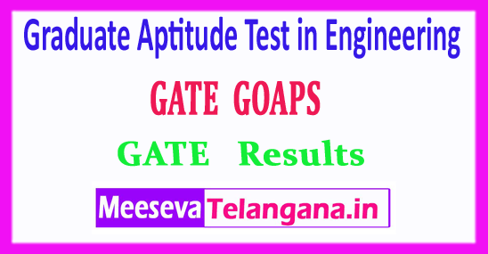 GATE Graduate Aptitude Test in Engineering 2018 Results Rank Card