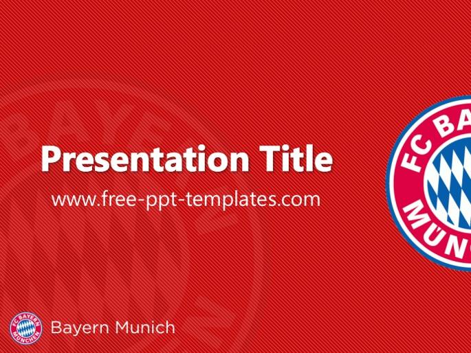 Bayern Munich PPT Template - football powerpoint template