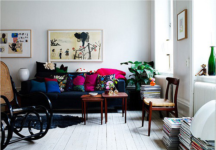 Beyond The Aisle: Winter Color: Navy And Pink Home Decor