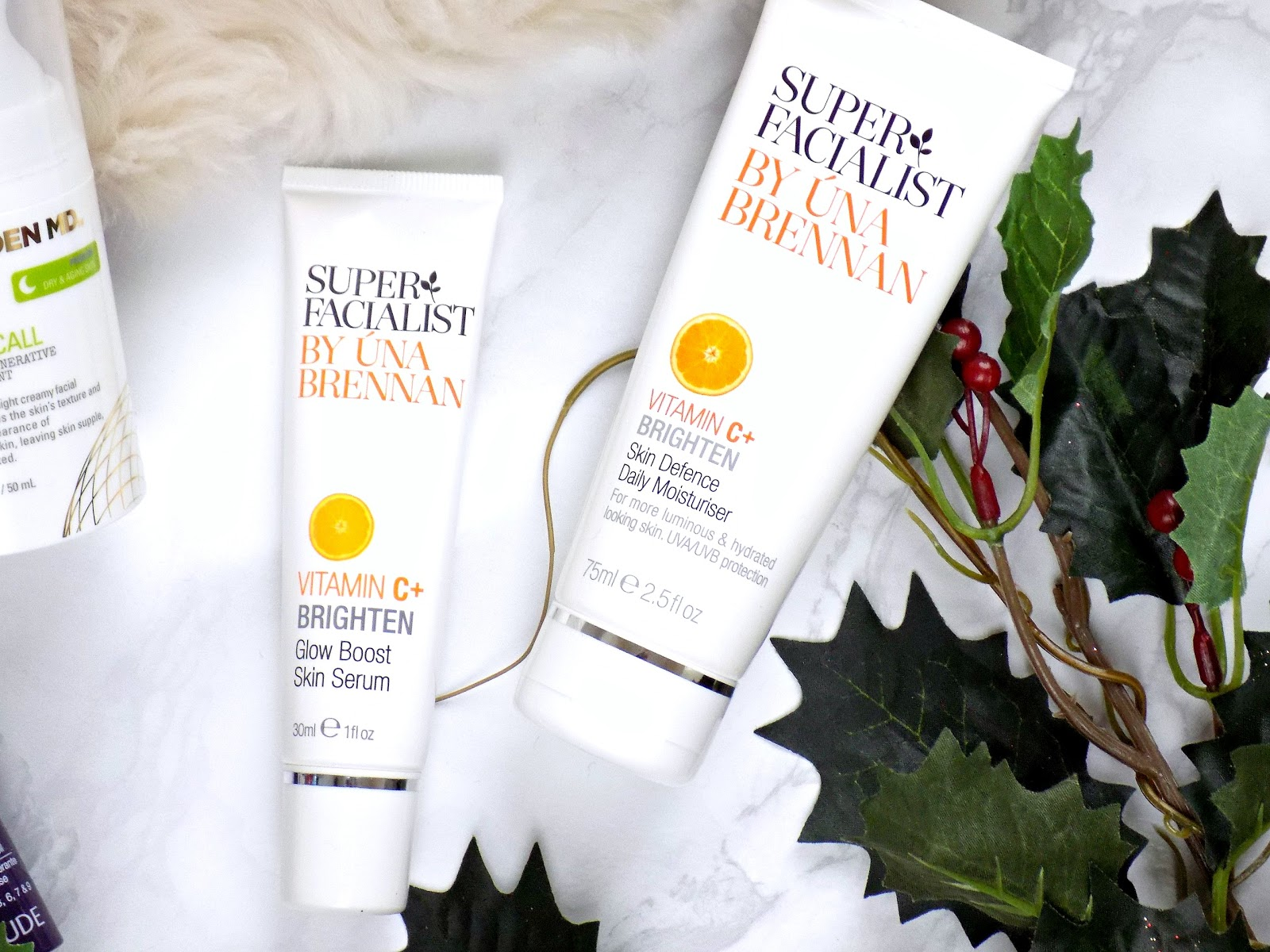 super facialist vitamin C+ brighten serum and moisturiser