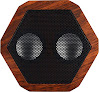 Boombotix - Boombot REX 2.0, Wireless Ultraportable Weatherproof Bluetooth Speaker, Woodgrain
