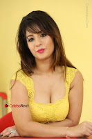 Cute Telugu Actress Shunaya Solanki High Definition Spicy Pos in Yellow Top and Skirt  0605.JPG