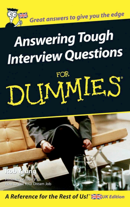 Answering Tough Interview Questions PDF for dummies