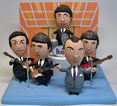 Witzige bemalte Ostereier - Beatles auf Bühne