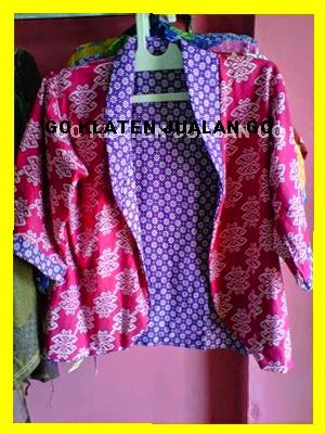Model Baju Batik Kombinasi Bolero Modern Terbaru