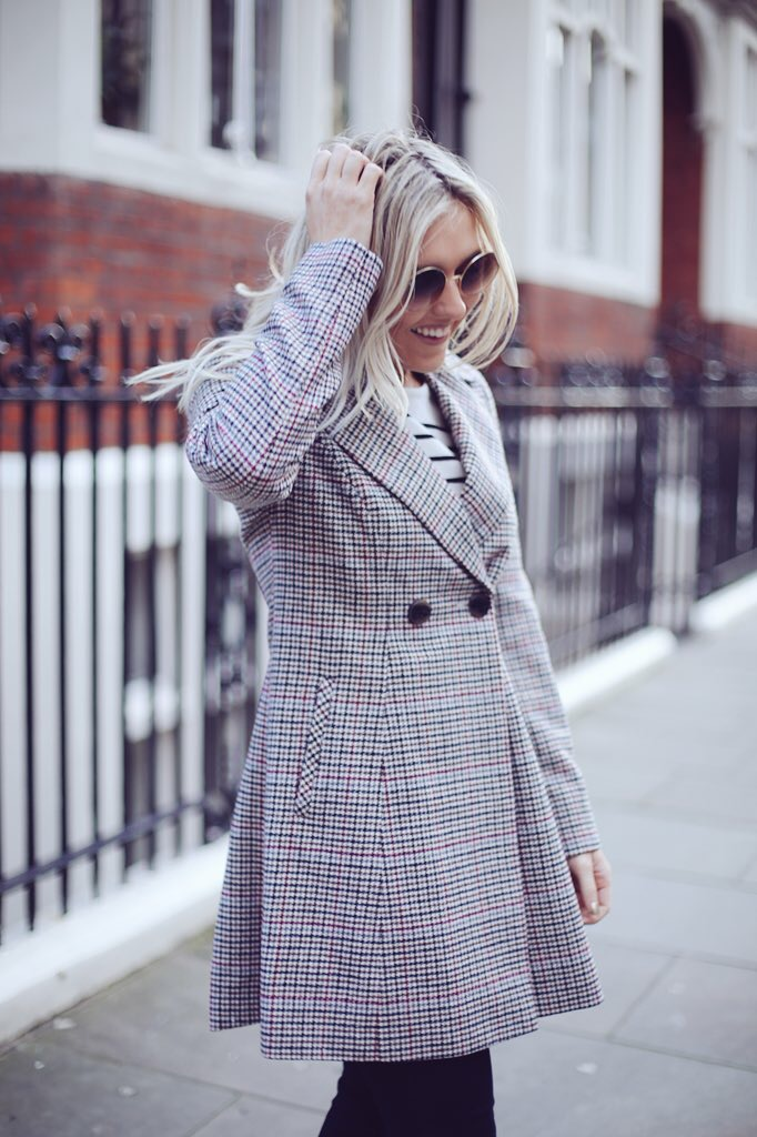Debenhams check coat