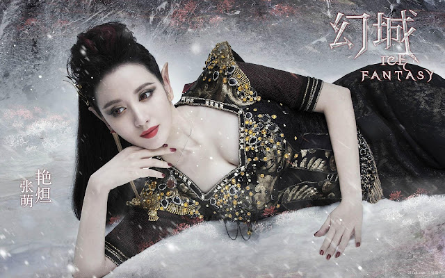 Zhang Meng in 2016 fantaxy wuxia called Ice Fantasy