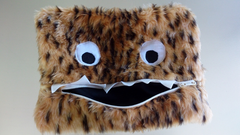 creating my way to success furry monster pencil case