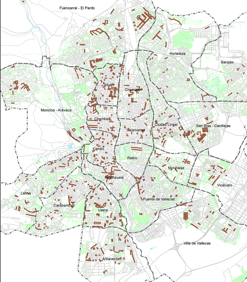 Las Tablas Digital Las Tablas en el mapa de los barrios donde se